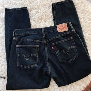 Levi Button Fly dark wash jeans